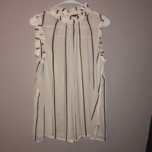 Who what wear black and white stripped top size L